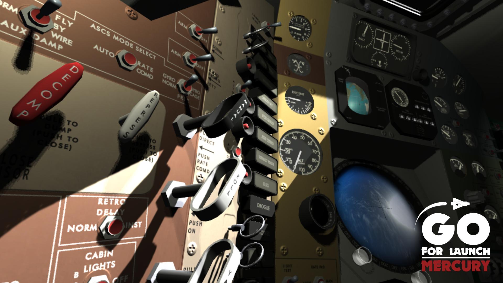 Friendship 7 Cockpit - Go For Launch Mercury